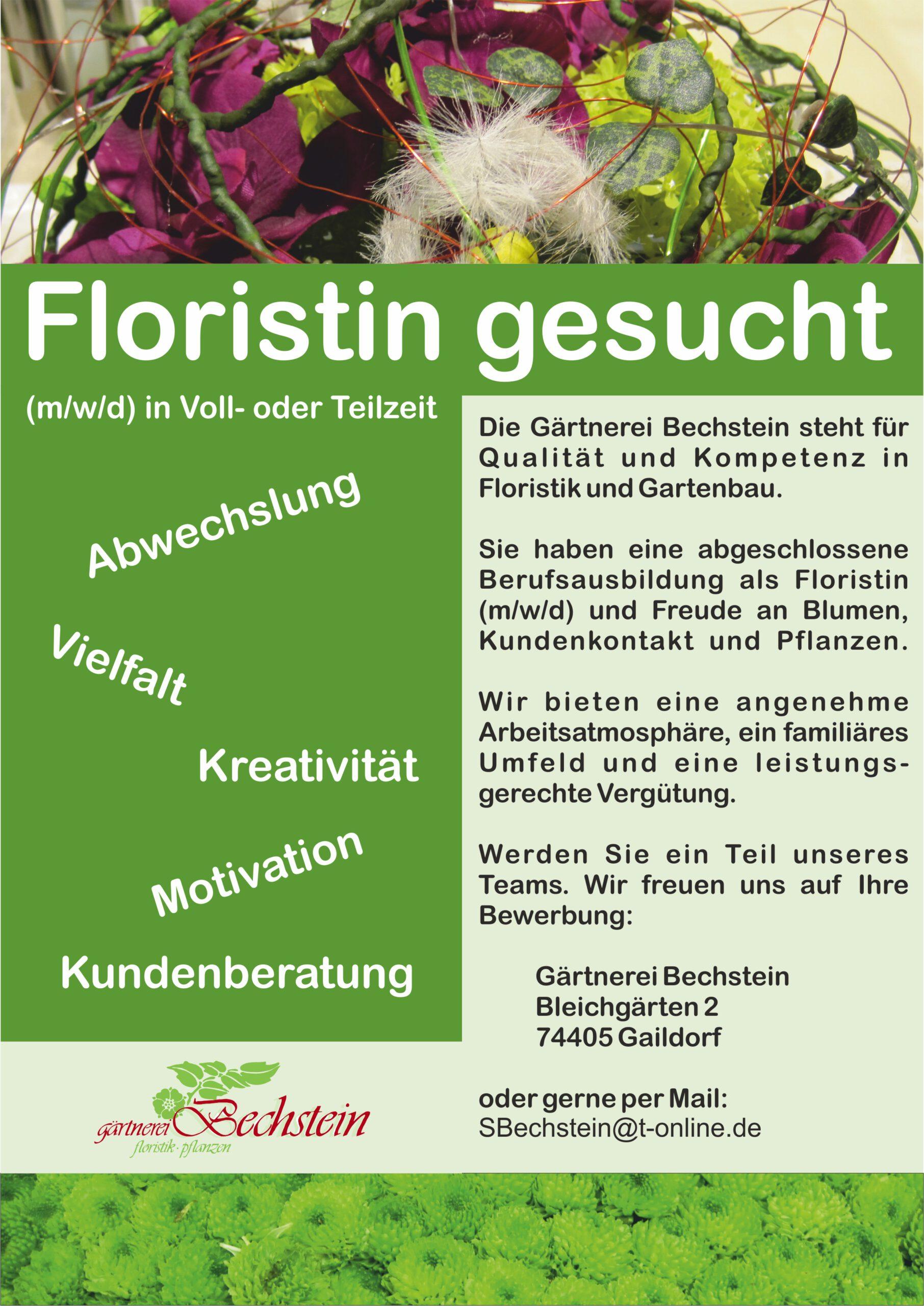 Stellenangebot Gaildorf FloristIn